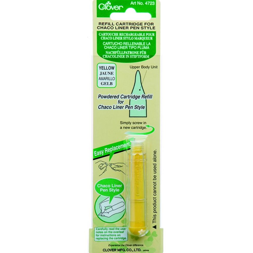Clover Chaco Liner Pen Style YELLOW REFILL