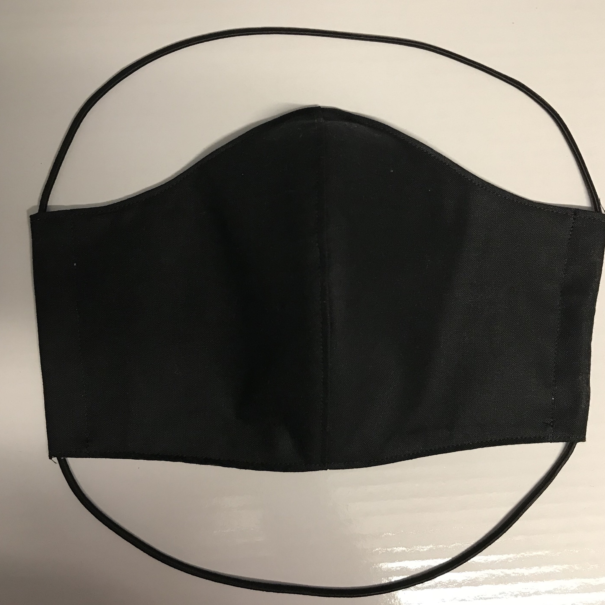 Large Washable Face Mask Black