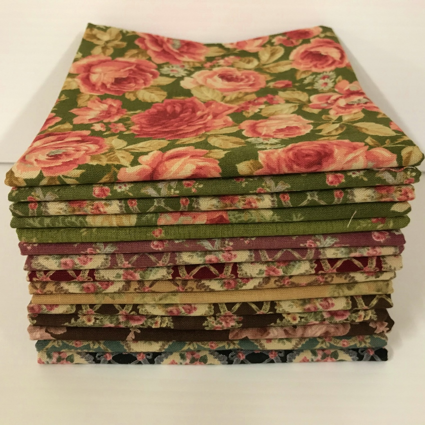 Antique Rose 15 Fat Quarter Pack