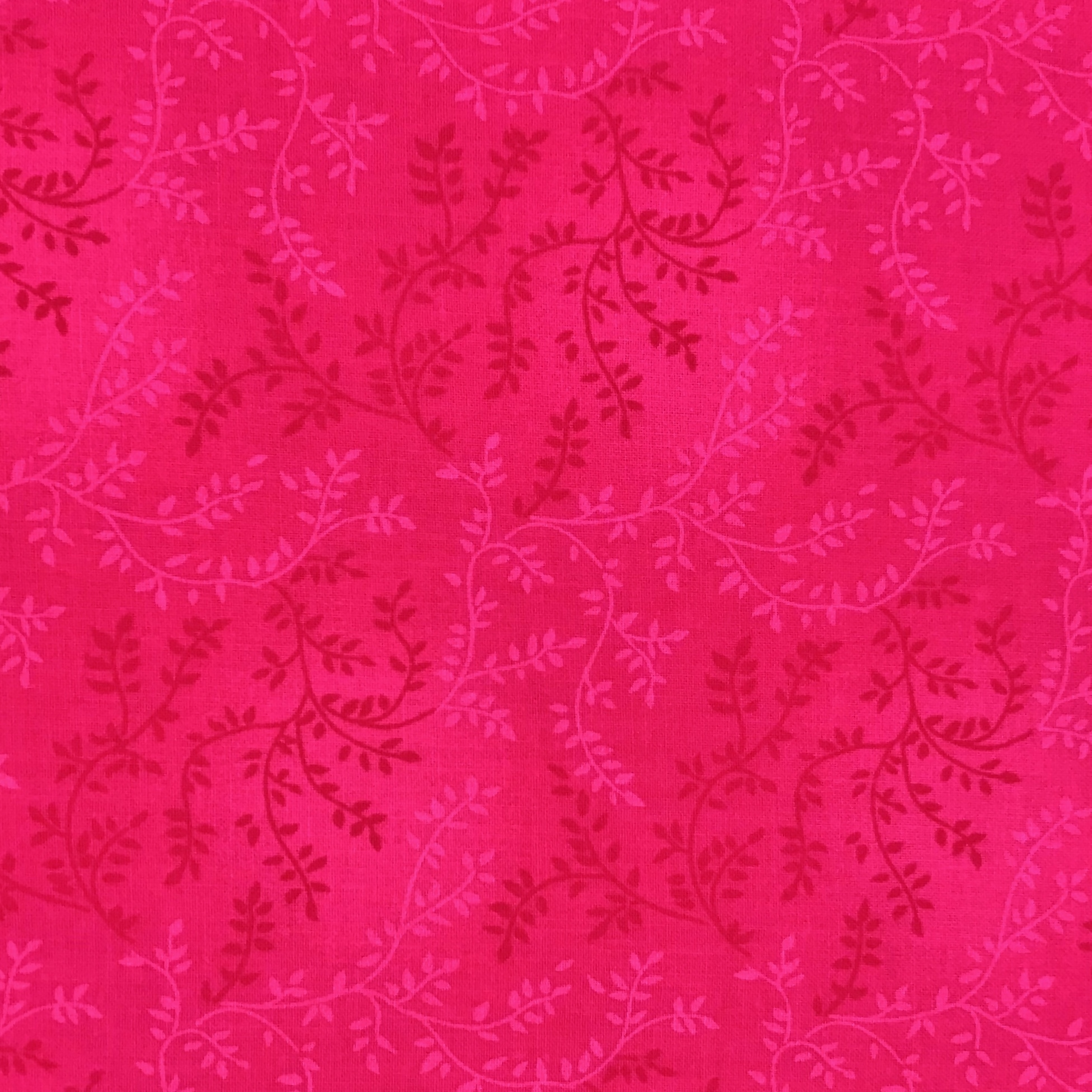 Sew Easy VINE Dark Pink Quilt backing 108