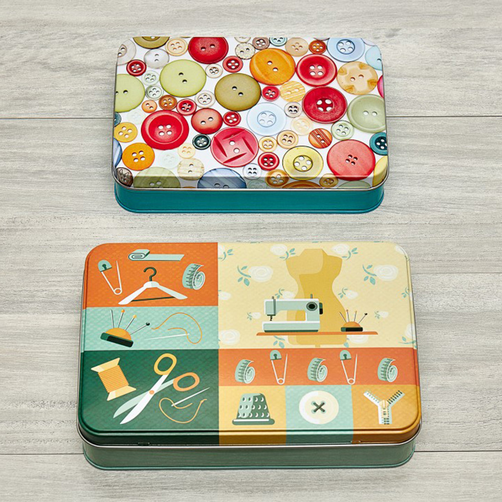 Green Storage Tins - 2 piece set