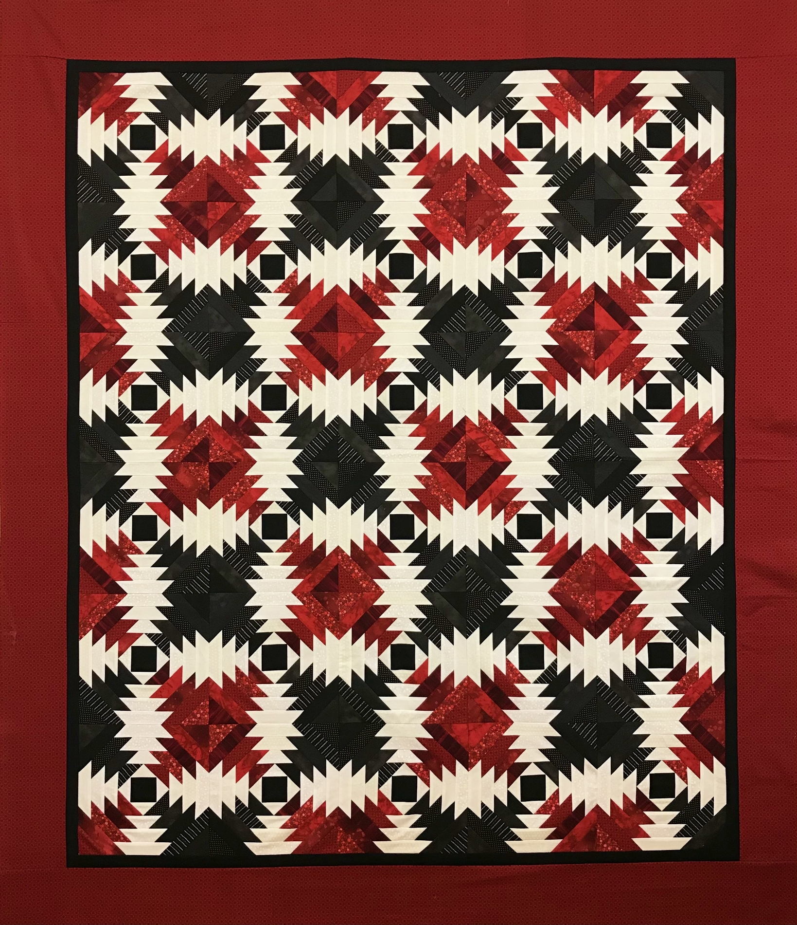 Pineapple Quilt in Red
