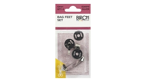 Bag Feet 12mm Silver