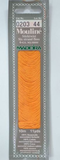 Col 0203 6 stranded Mouline embroidery thread