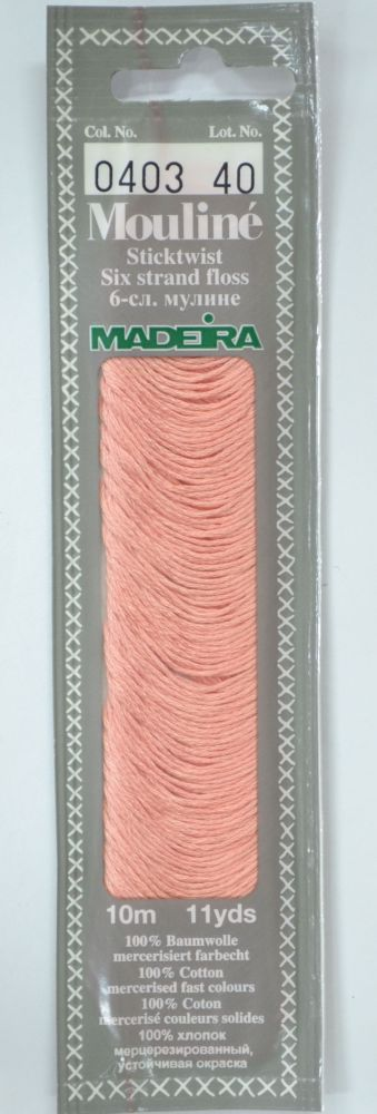 Col 0403 6 stranded Mouline embroidery thread