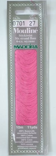 Col 0701 6 stranded Mouline embroidery thread