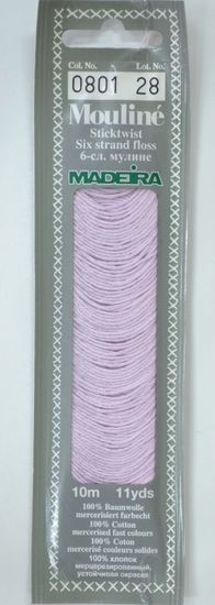 Col 0801 6 stranded Mouline embroidery thread