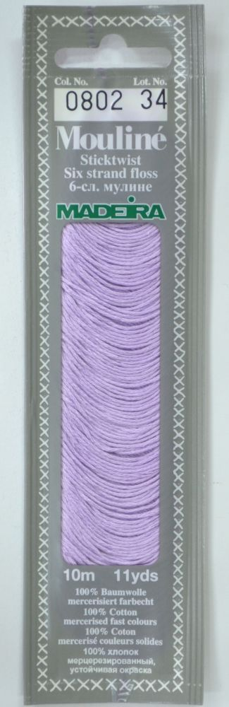 Col 0802 6 stranded Mouline embroidery thread