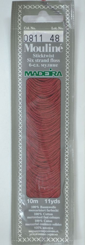 Col 0811 6 stranded Mouline embroidery thread
