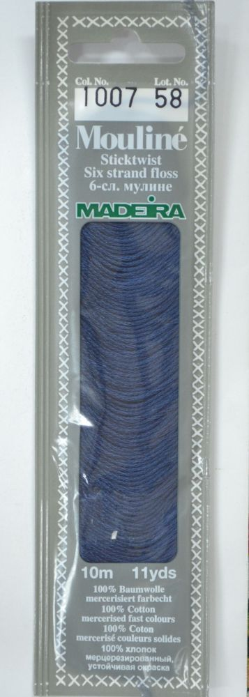 Col 1007 6 stranded Mouline embroidery thread