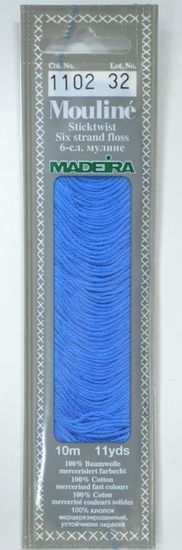 Col 1102 6 stranded Mouline embroidery thread