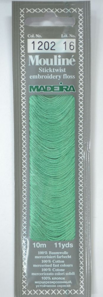 Col 1202 6 stranded Mouline embroidery thread