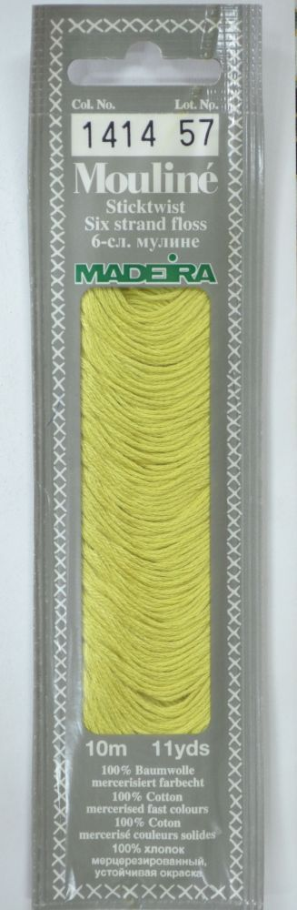 Col 1414 6 stranded Mouline embroidery thread