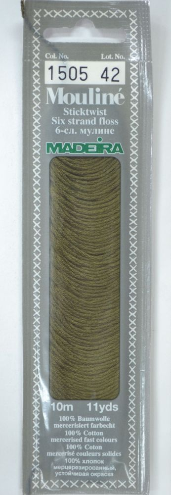 Col 1505 6 stranded Mouline embroidery thread