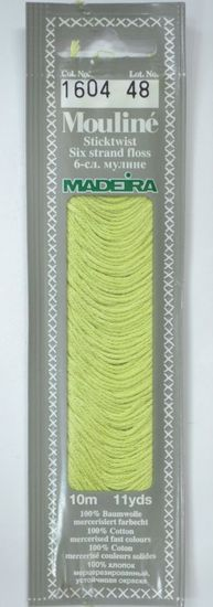 Col 1604 6 stranded Mouline embroidery thread
