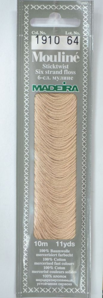 Col 1910 6 stranded Mouline embroidery thread