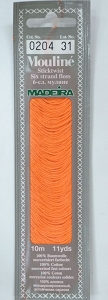 Col 0204 6 stranded Mouline embroidery thread