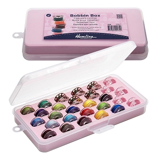 Hemline Bobbin Box, Holds 28 Machine Bobbins Securely