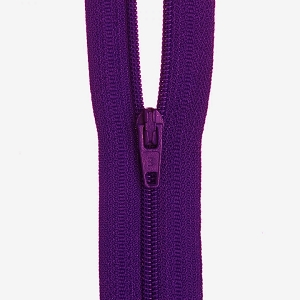 30cm Dress zip Deep Purple