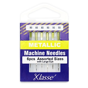 Klasse Metallic machine needles Assorted