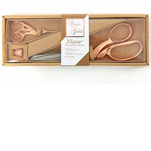 3 Piece Klasse Premium Rose Gold Scissors set