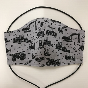 Large Washable Face Mask Grey machinery