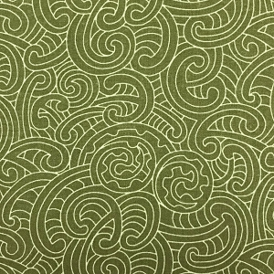 Ponga Koru Green Quilt backing 108