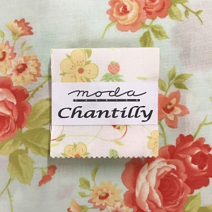 Chantilly Mini Charm Squares with Fat Quarter