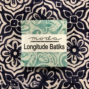 Longitude Batiks Mini Charms with Fat Quarter