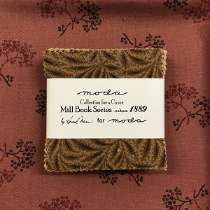 Mill Book Series Mini Charms with Fat Quarter