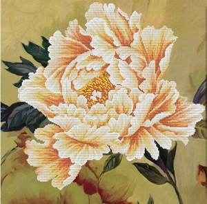 Blooming Peony 2 No-count cross stitch
