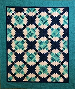 Pineapple Quilt in Green