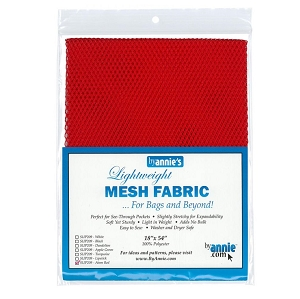 Lightweight Mesh Fabric Atomic Red
