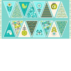 Lime Twist Bunting Panel