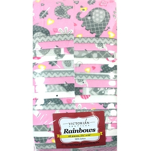 Little Lady Rainbow Precuts (Jelly Roll)