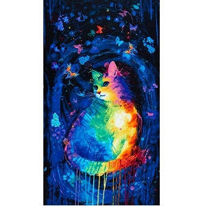 Meowza Mystical cat Panel