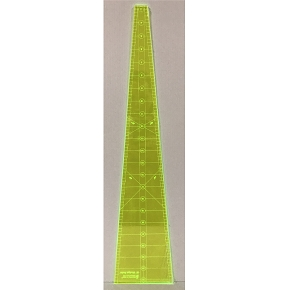 Quilters Ruler 10 degree wedge