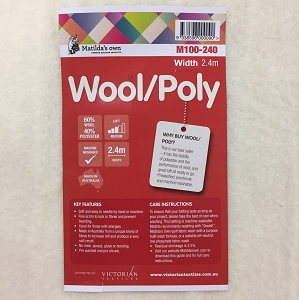 Wool Poly Wadding 2.4m wide