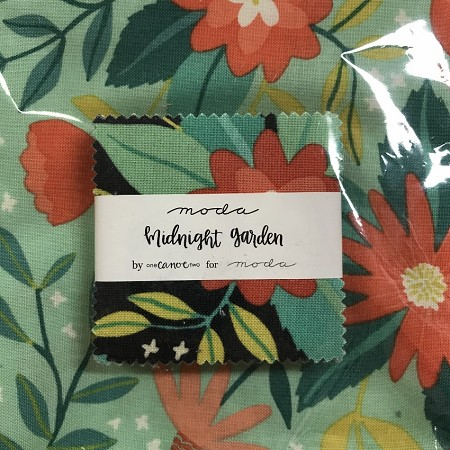 Midnight Garden Mini Charms with Fat Quarter