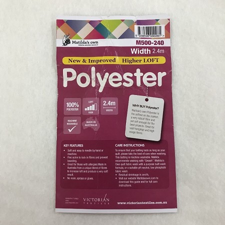 Polyester Wadding 2.4m wide