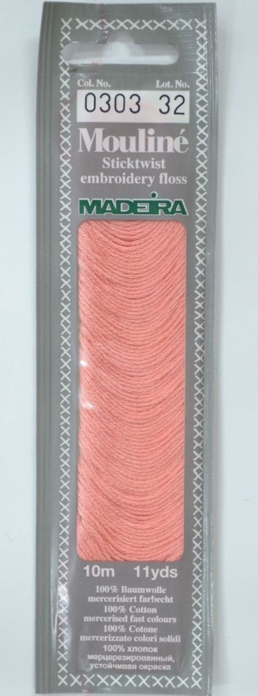 Col 0303 6 stranded Mouline embroidery thread