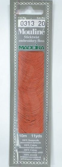 Col 0313 6 stranded Mouline embroidery thread