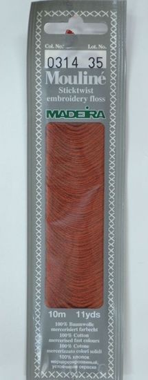 Col 0314 6 stranded Mouline embroidery thread