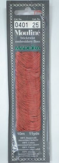 Col 0401 6 stranded Mouline embroidery thread