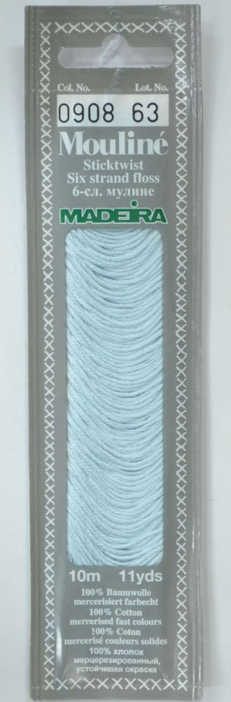 Col 0908 6 stranded Mouline embroidery thread