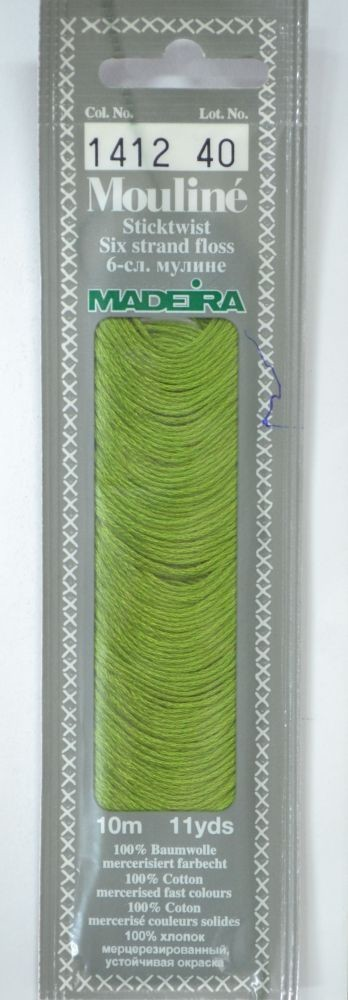Col 1412 6 stranded Mouline embroidery thread