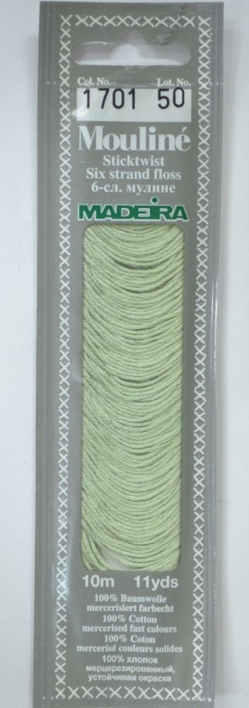 Col 1701 6 stranded Mouline embroidery thread