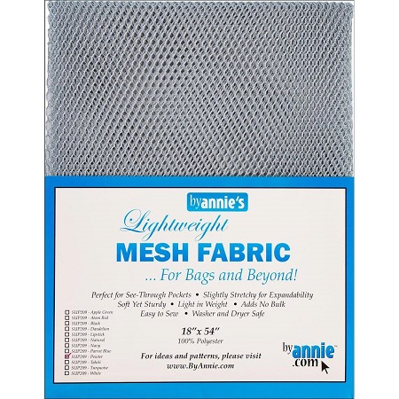Lightweight Mesh Fabric Pewter
